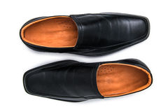 Black glossy man shoes isolated Stock Photo