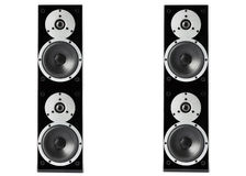 Black glossy music speakers Royalty Free Stock Photography