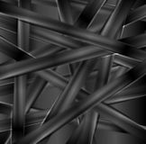 Black glossy stripes abstract tech background Stock Photos