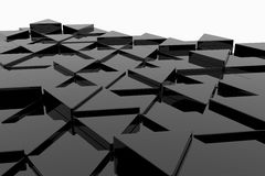 Black glossy triangle Royalty Free Stock Photo