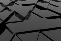 Black glossy triangle Royalty Free Stock Photos