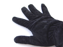 Black Glove. On white background Stock Images