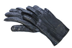 Black glove. Good leather. Object Royalty Free Stock Photo