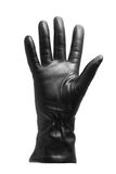 Black glove gesticulating. Black glove - voting/greeting gesture - isolated on white Royalty Free Stock Images