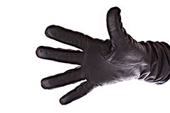 Black glove isolated Royalty Free Stock Photography