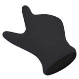 Black gloves. Forefinger shows Stock Images