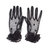 Black gloves with lace Stock Photos