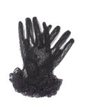 Black gloves with lace Stock Images