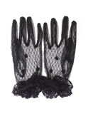 Black gloves with lace Stock Photo