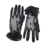 Black gloves with lace Royalty Free Stock Image