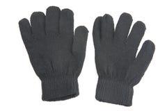 Black gloves on white Royalty Free Stock Photos