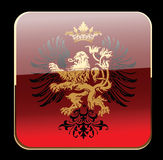 Black Glow Red Decorative Heraldry Ornate Banner. Stock Photos