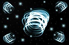 Black_glowing-swirl_abstact lizenzfreie stockfotos