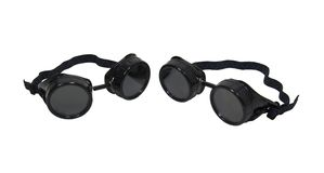 Black goggles Stock Photo