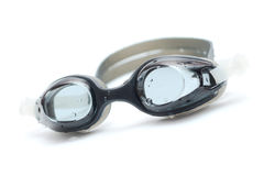 Black goggles for swim with drops Royalty Free Stock Images