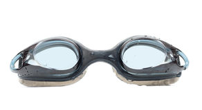 Black goggles for swim with drops Stock Photography