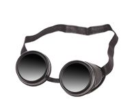 Black goggles used for eye protection Royalty Free Stock Photo