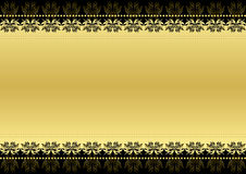 Black and gold Stock Photography