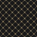 Black and gold abstract background. Subtle luxury repeat design for decoration, prints. Golden geometric ornament. Vector seamless pattern in oriental style Royalty Free Stock Photos
