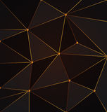 Black and gold abstract polygon background.Vector Royalty Free Stock Image