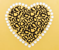 Animal Print Heart Stock Photo