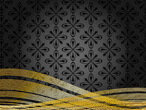 Black and gold background Royalty Free Stock Photos