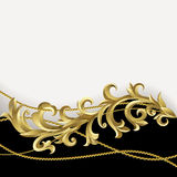 Black and gold background Stock Images