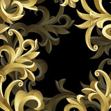 Black and gold background Royalty Free Stock Image