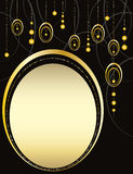 Black and gold background. Gold shiny elements on a black background Royalty Free Stock Image