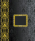 Black and gold background Royalty Free Stock Photography