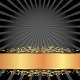 Black and gold background. With copy space Royalty Free Stock Photography