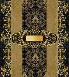 Black and gold background Royalty Free Stock Images