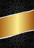 Black and gold background Stock Photos