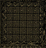 Black and gold background. Golden squares of thin lines on a black background Stock Photo