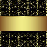 Black and gold background Stock Image