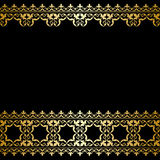 Black and gold vector background with vintage border Royalty Free Stock Image