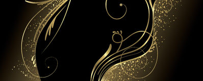 Black and gold banner vector illustration