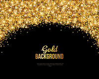 Black and Gold Banner, Greeting Card Royalty Free Stock Photo