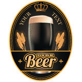 Black and gold beer label Stock Image
