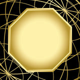 Black and gold vector card with center frame Stock Images