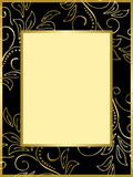 Black and gold card with floral background - eps Royalty Free Stock Photo