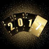 Black and gold cards 2017 Royalty Free Stock Images