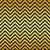 Black and gold chevron pattern Stock Photography
