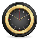 Black gold clock Royalty Free Stock Images