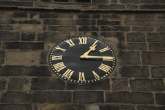 Black and Gold Clock Royalty Free Stock Images