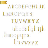 Black gold colorful ink alphabet letters. Stock Photography