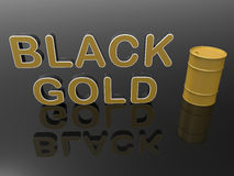 Black gold concept Stock Photography