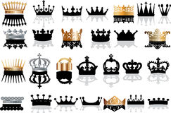 Black and gold crowns collection Stock Photo