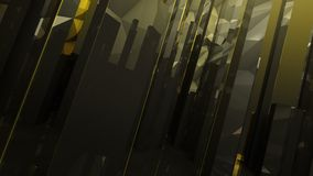 Black gold dark abstract column glass background Stock Photos
