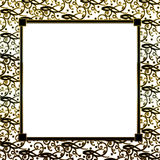 Black Gold Decorative Background Royalty Free Stock Images